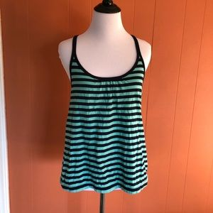 Anthropologie striped strappy tank top